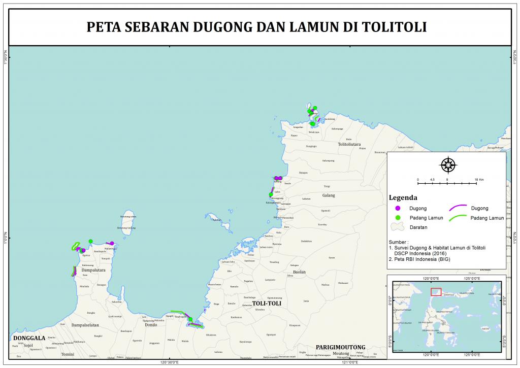 14. Peta sebaran Dugong dan Lamun di Toli-Toli_Desa - The ...